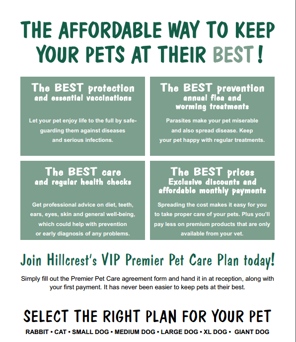 The affortable way to keep your pets at their best!